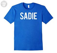 Mens Sadie T Shirt - Cool new funny sade name fan cheap gift tee Small Royal Blue - Funny shirts (*Amazon Partner-Link)