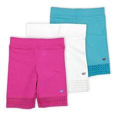 Lucky & Me Jada Little Girls Bike Shorts, Tagless, Soft Cotton, Lace Trim, Underwear Little Girls Bike, Thing 1, Comfy Shorts, Jada, Short Girls, Latest Fashion Trends, Lace Trim, Kids Fashion, Girl Outfits