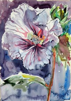 ARTFINDER: Flowers by Kovács Anna Brigitta - Original watercolour painting on high quality watercolour paper. I love landscapes, still life, nature and wildlife, lights and shadows, colorful sight. Thes...
