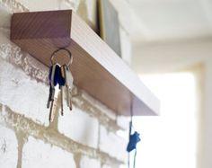 Clic, magnetic wall key holder shelf