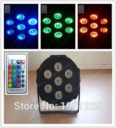29.55$  Watch more here - http://aifen.worlditems.win/all/product.php?id=32589161998 - 7x9W Wireless remote control Fast Shipping American DJ Mega Tri Par Profile Bright Stage  LED DJ Wash Light Stage