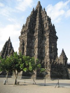 Candi Prambanan / Candi Rara Jonggrang is a 9th century Hindu temple compound in Central Java, Indonesia, dedicated to the ' Trimurti ' --- the expression of God as the Creator (Brahma), the Sustainer (Vishnu) and the Destroyer (Shiva). The temple is located approx. 18 km east of Yogyakarta, on the boundary between Yogyakarta and Central Java. Main shrine of the Prambanan Temples is dedicated to Shiva. The temple, a UNESCO World Heritage Site, is the largest Hindu temple in Indonesia.