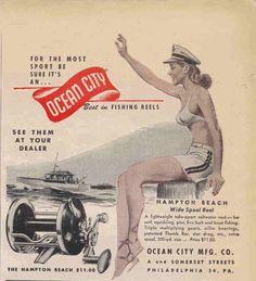 1946 Ocean City fishing reel ad.
