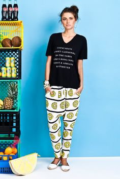 Samba, V Neck Tee, Rio, Capri Pants, Reusable Tote Bags, Coconuts, Tees, Collection, Fashion