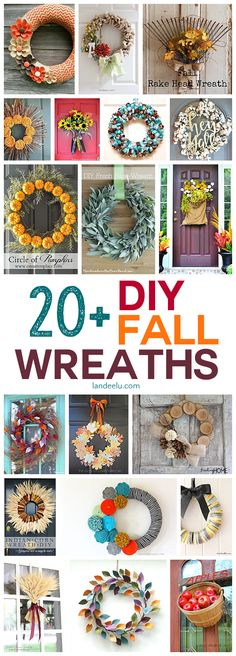 Awesome fall wreaths to make this year! I love DIY projects!
