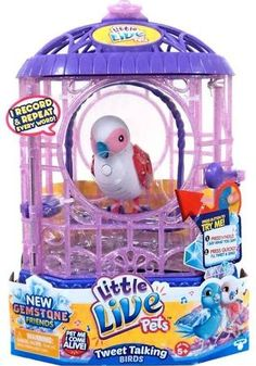Little Live Pets Bird With Cage Singalong Sammy Red