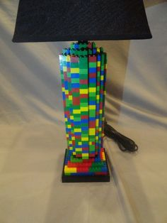 Lego Lamp - how cool is this!? And an easy DIY project at that!