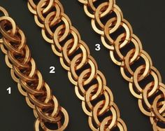 Square Half Persian 3 in 1 in three sizes #chainmaille