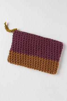 Handknit Colorblock Pouch-Handknit Colorblock Pouch