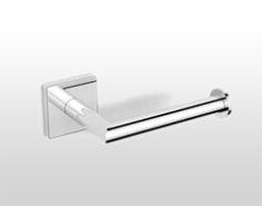 Dezi Home Geometri Tissue Holder Polished Chrome Accessory Tissue Holder Single Post Toilet Roll Holder, Bathroom Hardware, Tissue Holders, Polished Chrome, Bathroom Accessories, Brass, Home, Design, Products