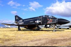 Black F-4S Phantom II. I remember these from Viet Nam. Tree top bomb runs. So fast!