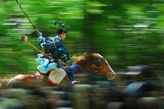 流鏑馬(やぶさめ)——是日本的傳統騎射技藝
