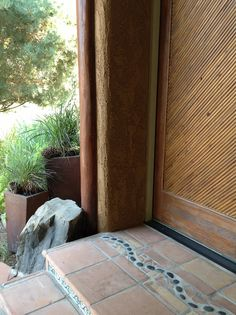 Custom tile at the front door entrance