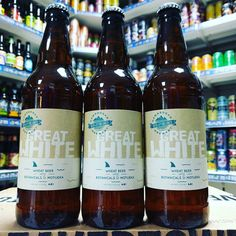 Great White - 4.8% Wheat Beer with coriander seeds & orange peel from @hawksheadbrewery available now