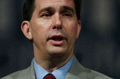 ORLANDO, FL - JUNE 02: Wisconsin Governor Scott Walker and possible Republican presidential candidate speaks during the Rick Scott's Economic Growth Summit held at the Disney's Yacht and Beach Club Convention Center on June 2, 2015 in Orlando, Florida. Many of the leading Republican presidential candidates are scheduled to speak during the event. (Photo by Joe Raedle/Getty Images)