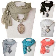 Nova chegada 2015 moda mulheres de lenço lenços colar envoltório de jóias de luxo Feminina de algodão quente para mulheres em Colares com pingente de Jóias no AliExpress.com | Alibaba Group