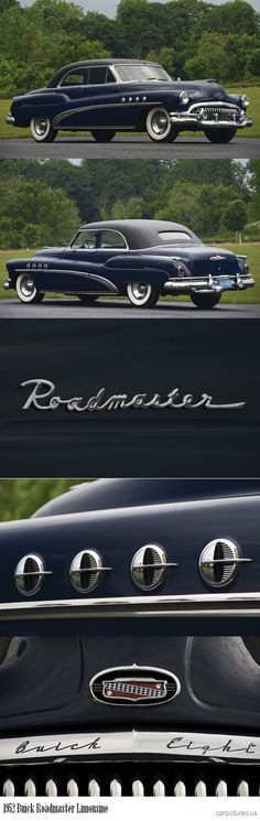 1952 Buick Roadmaster Limousine. https://carpictures.us - more amazing cars here: http://themotolovers.com