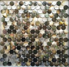 Handmade Black Round Penny Mother of Pearl Seashell Mosaic Tile For Bathroom,Kitchen,Wall,Spa Shower Backsplash Tile Shower Backsplash, Kitchen Backsplash, Mosaic Wall, Mosaic Tiles, Online Tile Store, Pool Shower, Glass Bathroom, Bathroom Ideas, Tile Stores