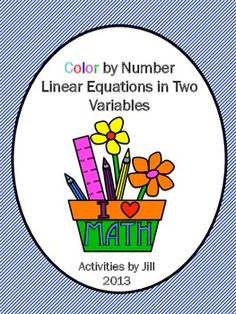 This color by number will provide a challenge for Algebra 1 students! They must work carefully to solve the 15 problems and will required to use lots of the information they have studied about graphing linear equations and forms of linear equations.  Objective: Students will use point, slope, intercept, parallel, and perpendicular information relating to a linear equation to represent an equation in standard form and slope intercept form.