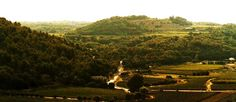 View from a Chateau in Luberon  - Provence, France.