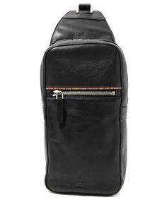 Paul Smith,ZIP SIGNATURE LEATHER BODY BAG /R560-WEAR