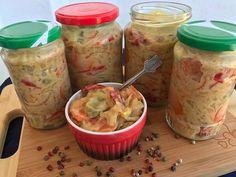 SALATA DE MURATURI IN SOS DE MUSTAR | Diva in bucatarie Fresh Rolls, Ethnic Recipes, Food, Canning, Salads, Meals
