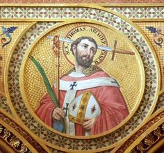 Traditional Feast Day: St Thomas Becket, Archbishop of Canterbury from 1162 - 1170. Engaged in conflict with King Henry II over rights & privileges of Church & was murdered by followers of the king in Canterbury Cathedral. Soon after death, he was canonised by Pope Alexander III