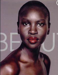 Alec Wek, amazingly beautiful Sudanese model.