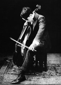 Charles Chaplin, who had his violin and cello restrung and played left-handed