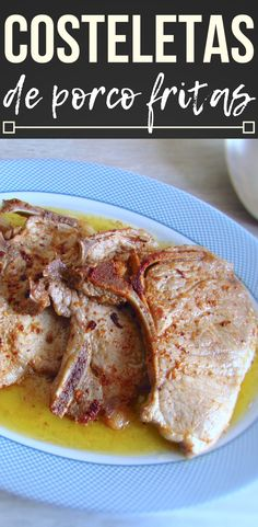 If you have little time and want to prepare a quick and easy meal, this fried pork chops recipe is perfect for you! Season with salt, pepper. Meat Recipes For Dinner, Easy Meat Recipes, Pork Chop Recipes, Healthy Recipes, Free Recipes, Pork Chop Nutrition, Fried Pork Chops, Meat Platter, Meat Loaf Recipe Easy