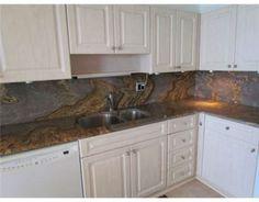 Granite full height backsplash
