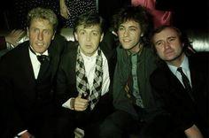 Roger Daltrey, Paul McCartney, Bob Geldof, & Phil Collins