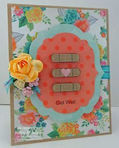 Two Paper Divas get well Band-Aid card