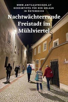 Freistadt im Mühlviertel ist eine geheimnisvolle Stadt. Vor allem in der Nacht wirken die mittelalterlichen Gassen mystisch. Folge dem Nachtwächter von Geschichte zu Geschichte und erlebe Oberösterreich aus einer neuen Perspektive. Alle Infos über den tollen Ausflug erfährst du in meinem Blogbeitrag.