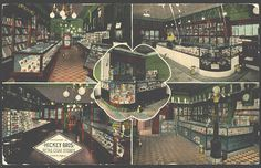 Old postcard of Hickey Brothers Store.