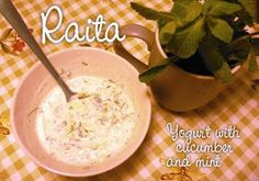 Fran's House of Ayurveda: RECIPE ~ Raita (Yogurt with Cucumber and Mint)