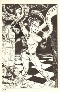 Lara Croft: Tomb Raider Commission - Signed art by Steve Mannion