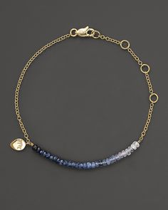 Meira T Blue Sapphire and 14K Yellow Gold Bracelet | Bloomingdale's