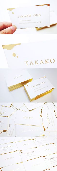 Gold business card design | 金箔名刺デザイン #businesscard #card #print #design #gold  #idea #creative #inspiration #名刺 #カード #デザイン #おしゃれ #アイデア