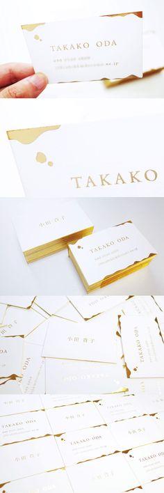 Gold business card design | 金箔名刺デザイン #businesscard #card #print #design #gold #idea #creative #inspiration #名刺 #カード #デザイン #おしゃれ #アイデア