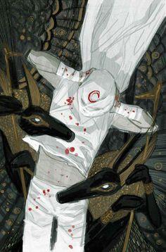 Moon Knight by Julian Totino Tedesco (unused cover) * Comic Book Artists, Comic Book Characters, Comic Character, Comic Books Art, Comic Art, Character Reference, Marvel Comics Art, Marvel Heroes, Batman