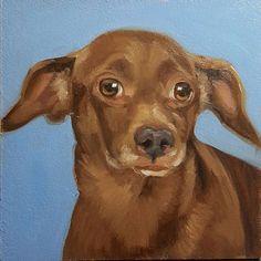 Dog 74 Lenny 6x6 oil on panel 1001dogs.tumblr.com  #dogportrait #shelterdog #adoptdontshop #oilpainting #6x6 #animal #dog #artseries #1001dogs #yearofthedog #2018chinesenewyear #daspinterest #danaaldisstudio #30paintingsin30days #DogTumblr Dog Tumblr, Dog Years, Art Series, Shelter Dogs, Dog Portraits, Chinese New Year, Dog Bed, Scooby Doo, Giraffe