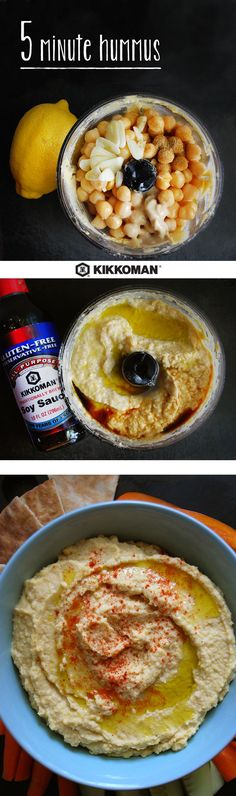 Say goodbye to store-bought hummus forever... Hummus is actually one of the most affordable snacks to make right at home and it only takes 5 minutes! Pop all 7 ingredients in your food processor, or use an immersion blender if you have one handy. Serve your creamy chickpea treat with fresh veggies, pita wedges, or tortilla chips!