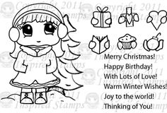 Clear Stamp set GIVEAWAY!  Click image to take you to Gaby's Papery's blog to enter!