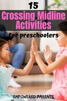 Crossing the midline is an important building block in developing pre-writing skills in young children. Here are 15 midline crossing activities to try with your kids. health activities health care health ideas health tips healthy meals Pre Reading Activities, Motor Skills Activities, Preschool Activities, Health Activities, Preschool Writing, Preschool Learning, Teaching, Writing Prompts For Kids, Pre Writing