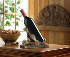Giddy Up! Wild West Spur Sculpture Wine Bottle Holder