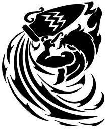 Tattoos On Best Tip Tribal Aquarius Zodiac Tattoo Ideas Aquarius Symbol Tattoo, Zodiac Sign Tattoos, Tattoo Signs, Horoscope Tattoos, Capricorn Tattoo, Aquarius Images, Zodiac Signs Aquarius, Aquarius Astrology, Vedic Astrology