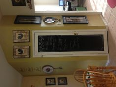 My new pantry chalk board door. Took all of 10 minutes!