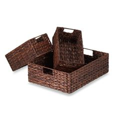 Rush Baskets (Set of 3) - Bed Bath & Beyond