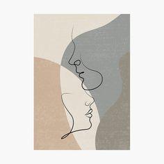 Cool Art Drawings, Art Drawings Sketches, Kanvas Art, Abstract Face Art, Wow Art, Diy Canvas Art, Minimalist Art, Line Art, Wall Art Designs
